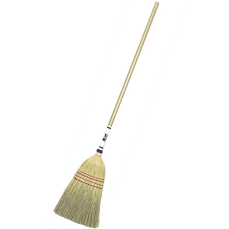 Old Broom Old Straw Broom Old Broom New Broom Isolated